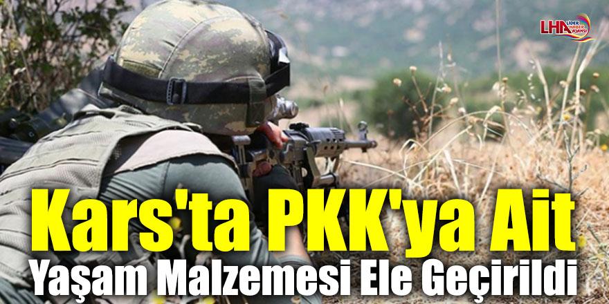 Kars'ta PKK'ya Ait Yaşam Malzemesi Ele Geçirildi