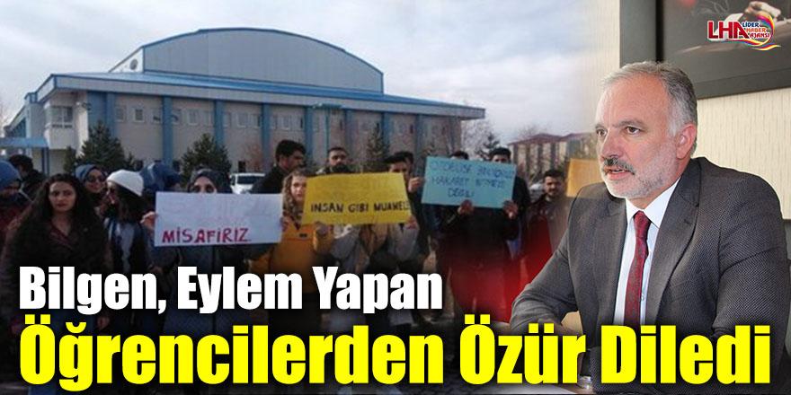 Kars Belediye Başkanı Bilgen, Eylem Yapan Öğrencilerden Özür Diledi