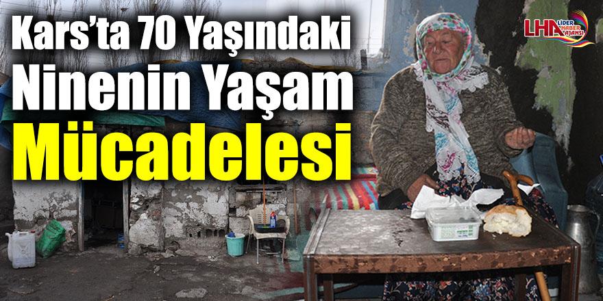 Kars'ta 70 Yaşındaki Ninenin Yaşam Mücadelesi