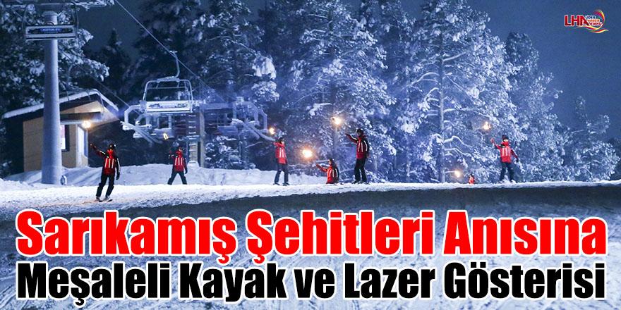 Sarıkamış Şehitleri Anısına Meşaleli Kayak Ve Lazer Gösterisi