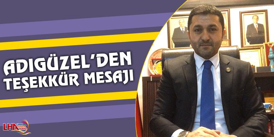 MHP Kars İl Başkanı Tolga Adıgüzel'den Teşekkür Mesajı