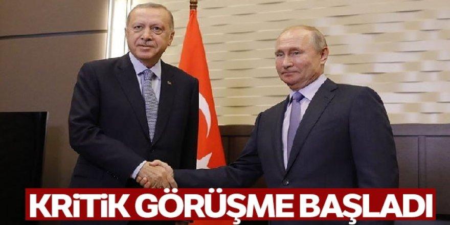 Erdoğan ile Rusya Devlet Başkanı Vladimir Putin'in görüşmesi başladı