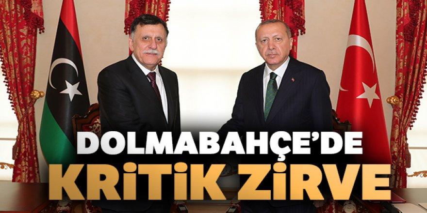 Cumhurbaşkanı Erdoğan Libya Başbakanı Es-Serrac'ı kabul etti