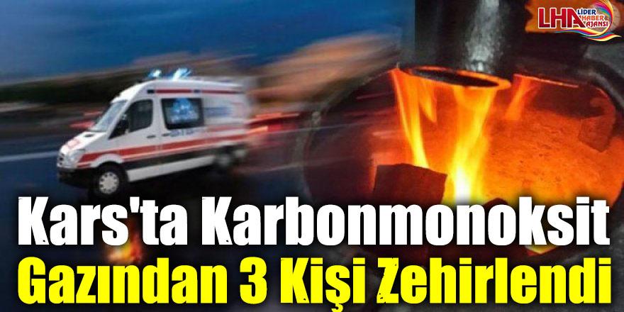 Kars'ta Karbonmonoksit Gazından 3 Kişi Zehirlendi