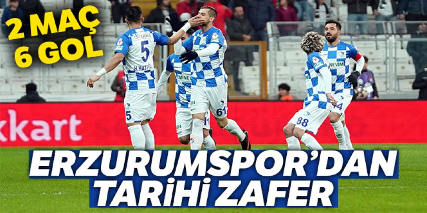 Beşiktaş 2 - 3 Erzurumspor