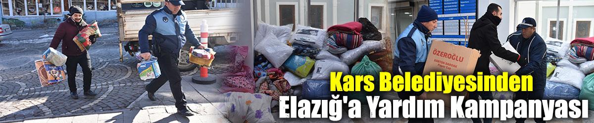 Kars Belediyesinden Elazığ'a Yardım Kampanyası