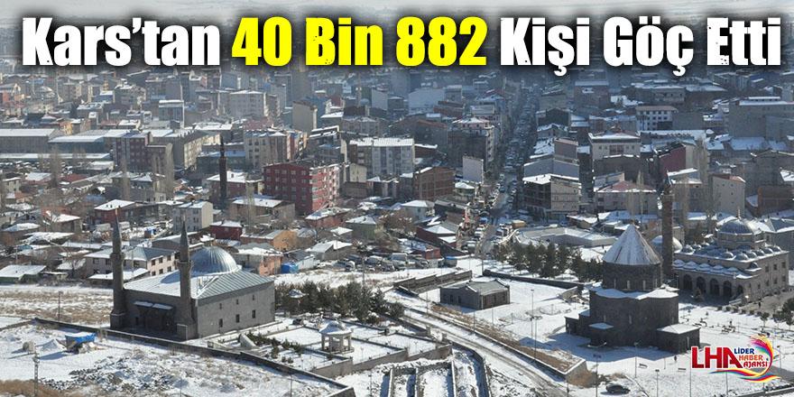 Kars'tan 40 Bin 882 Kişi Göç Etti