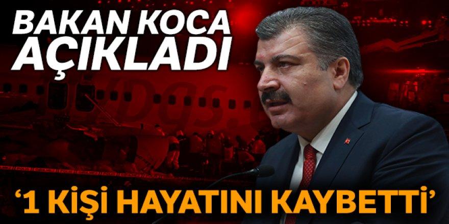 Sağlık Bakanı Fahrettin Koca: Uçak kazasında bir kişi hayatını kaybetti