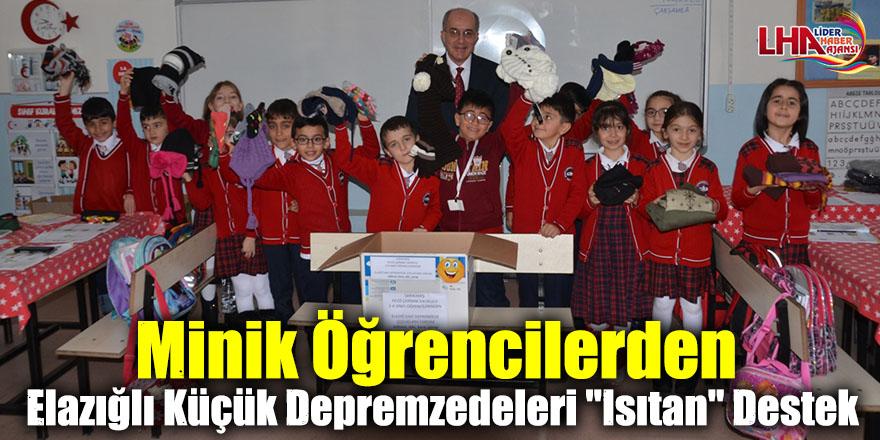 """Minik Öğrencilerden Elazığlı Küçük Depremzedeleri """"Isıtan"""" Destek"""