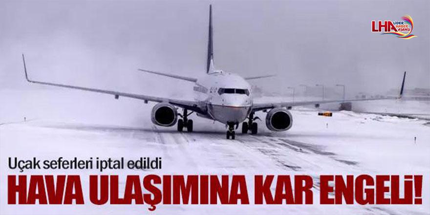 Kars'ta Hava Ulaşımına Kar Engeli