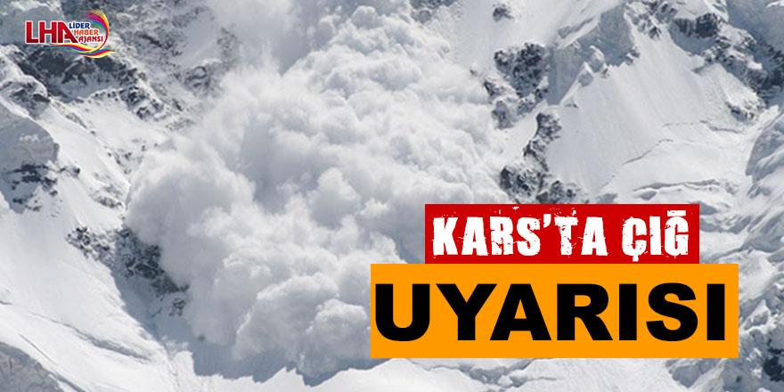 Kars'ta Çığ Uyarısı