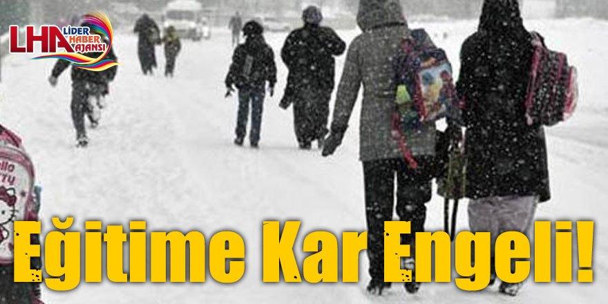 Kars'ta Bazı İlçelerde Eğitime Kar Engeli