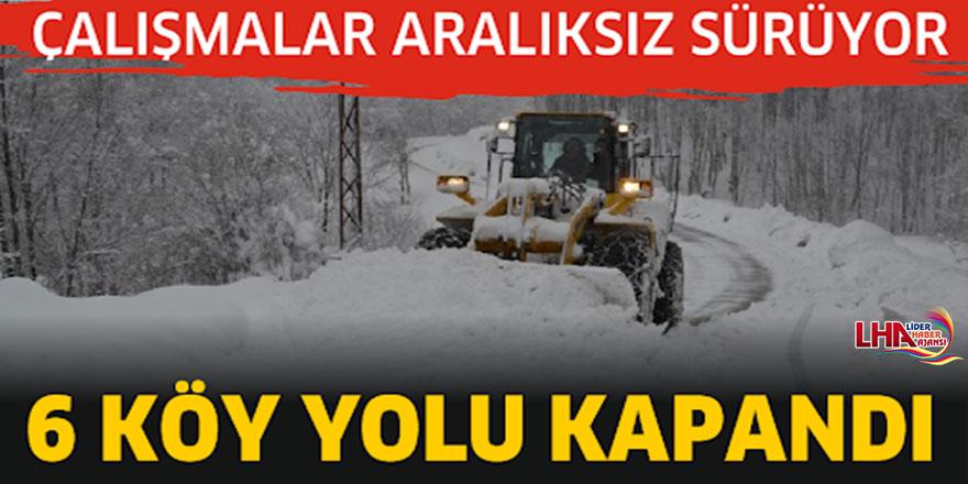 Kars'ta 6 Köy Yolu Ulaşıma Kapandı
