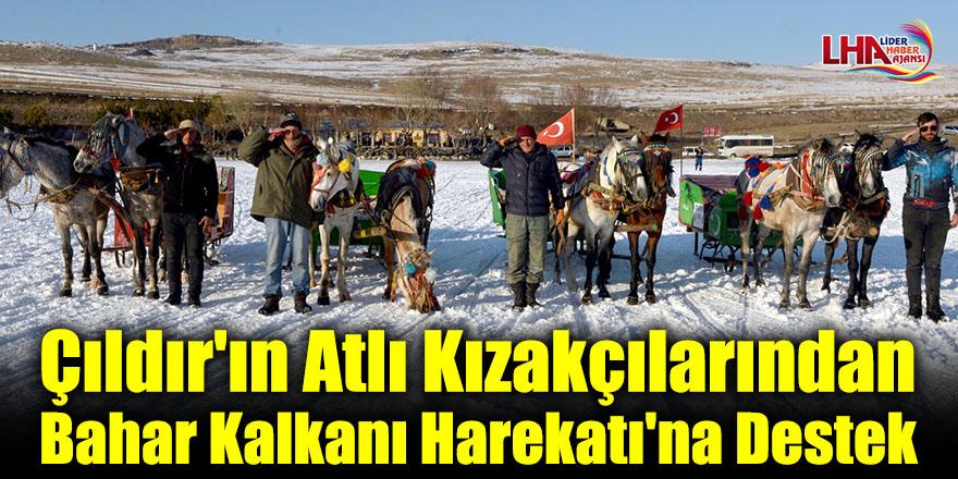 Çıldır'ın Atlı Kızakçılarından Bahar Kalkanı Harekatı'na Destek