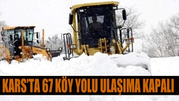 Kars'ta 67 Köy Yolu Ulaşıma Kapalı