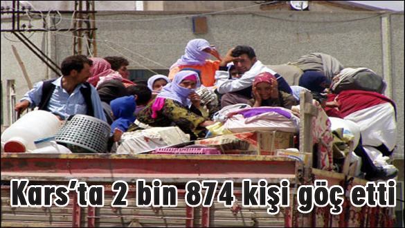 Kars'ta 2 bin 874 kişi göç etti