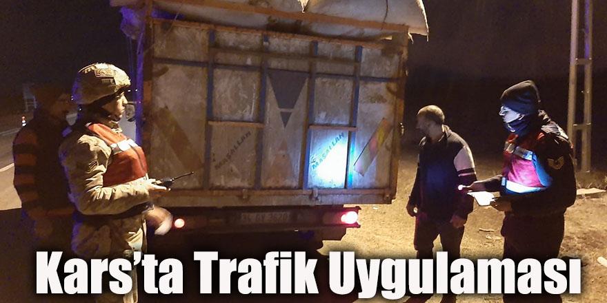 Kars'ta Trafik Uygulaması Yapıldı