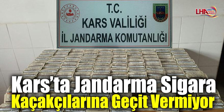 Kars'ta Jandarma Sigara Kaçakçılarına Geçit Vermiyor