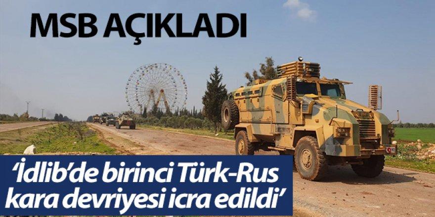 MSB: 'İdlib'deki M4 karayolunda 1'inci Türk-Rus birleşik kara devriyesi icra edildi'