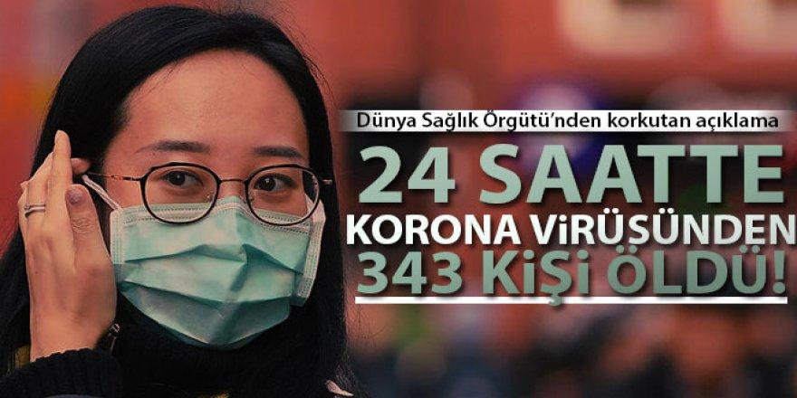 WHO: '24 saatte korona virüsünden 343 kişi öldü'