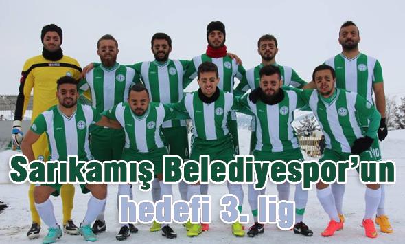 Sarıkamış Belediyespor'un hedefi 3. lig