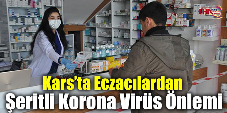 Kars'ta Eczacılardan Şeritli Korona Virüs Önlemi