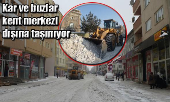 Kar ve buzlar kent merkezi dışına taşınıyor