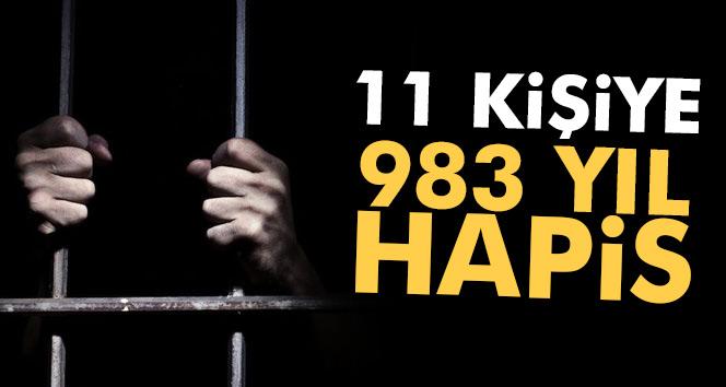 Yol kesme eylemine 983 yıl hapis