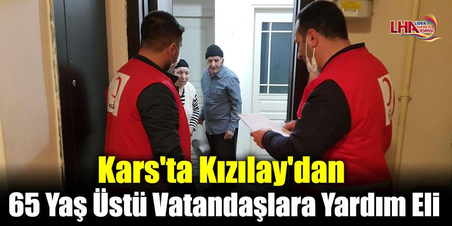 Kars'ta Kızılay'dan 65 Yaş Üstü Vatandaşlara Yardım Eli