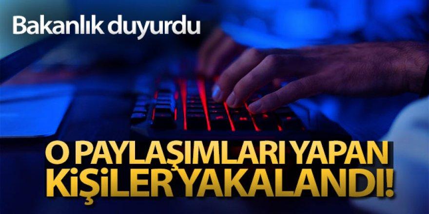 İçişleri Bakanlığı: '3 bin 576 adet sosyal medya hesabı incelendi, 229 şahıs yakalandı'