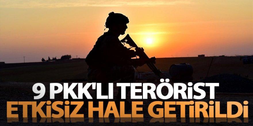 MSB duyurdu: 9 PKK'lı terörist etkisiz hale getirildi