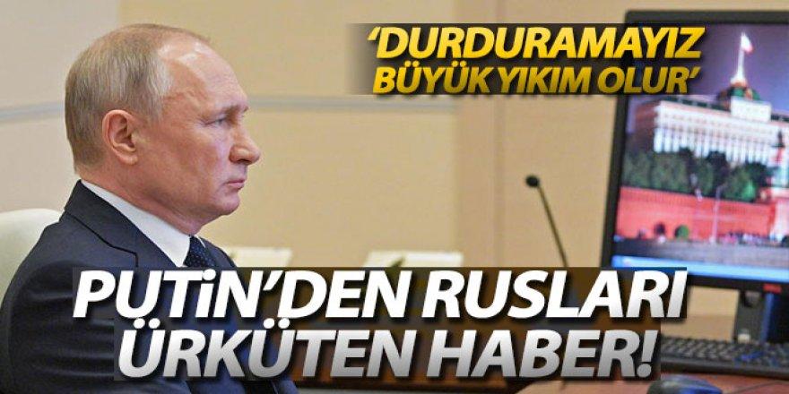 Rusya Devlet Başkanı Putin: 'Ülkede ekonomiyi durduramayız'