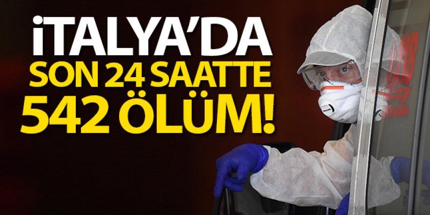 İtalya'da son 24 saatte 542 ölüm