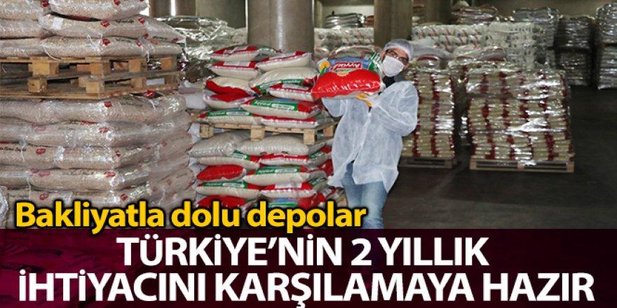 Bakliyatla dolu depolar Türkiye'nin 2 yıllık ihtiyacını karşılamaya hazır
