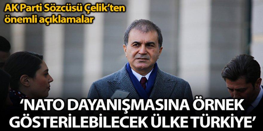 Çelik: 'NATO dayanışması adına örnek gösterilebilecek tek ülke Türkiye'