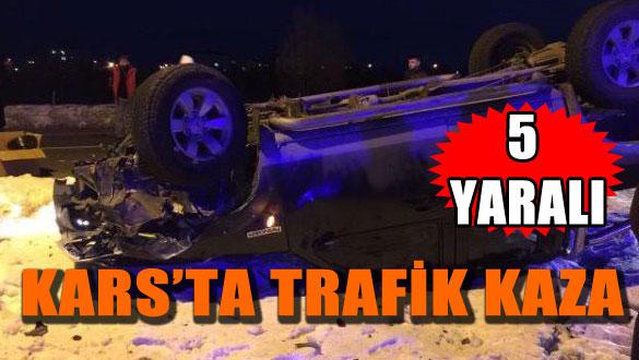 Kars'ta Trafik Kaza: 5 Yaralı