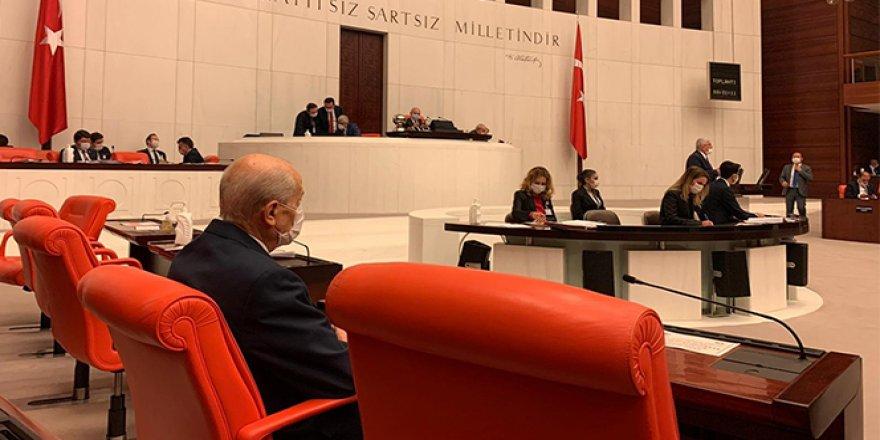 MHP Genel Başkanı Devlet Bahçeli TBMM'de
