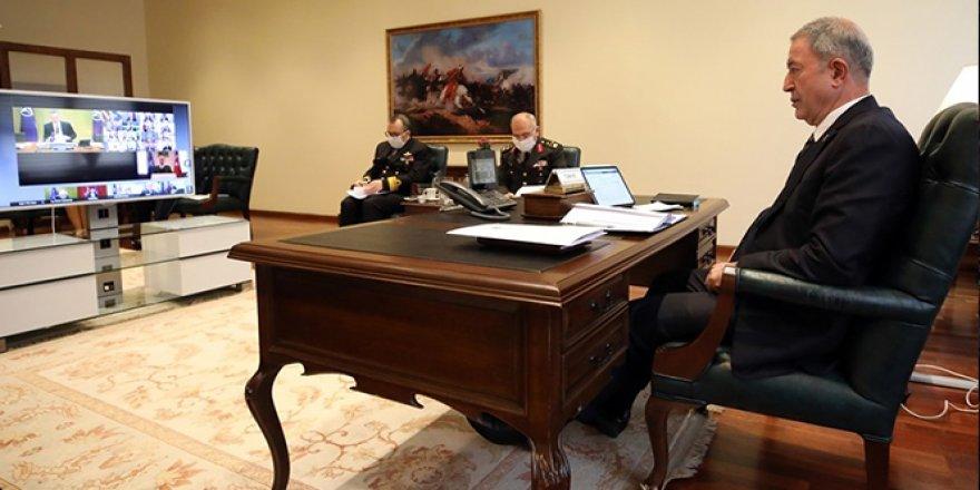 Bakan Akar, video konferansla NATO Savunma Bakanları Toplantısı'na katıldı