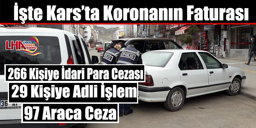 İşte Kars'ta Koronanın Faturası