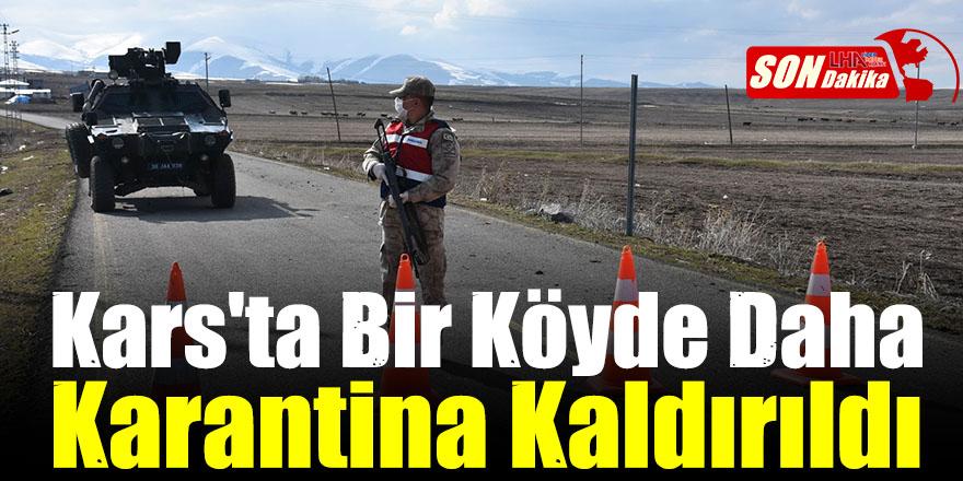 Digor Türkmeşen Köyünde Karantina Kaldırıldı