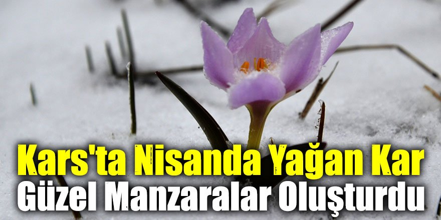 Kars'ta Nisanda Yağan Kar Güzel Manzaralar Oluşturdu