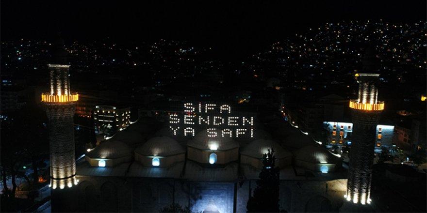 450 yıllık Ramazan mahyasında şifa mesajı