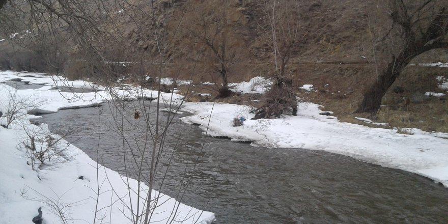 Kars Çayında Buzlar Erimeye Başladı