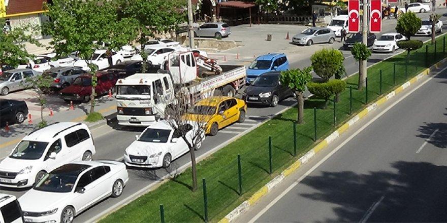 Mardin'de kısıtlama sonrası yoğun trafik
