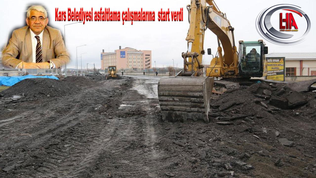 Kars Belediyesi asfalt çalışmalarına start verdi