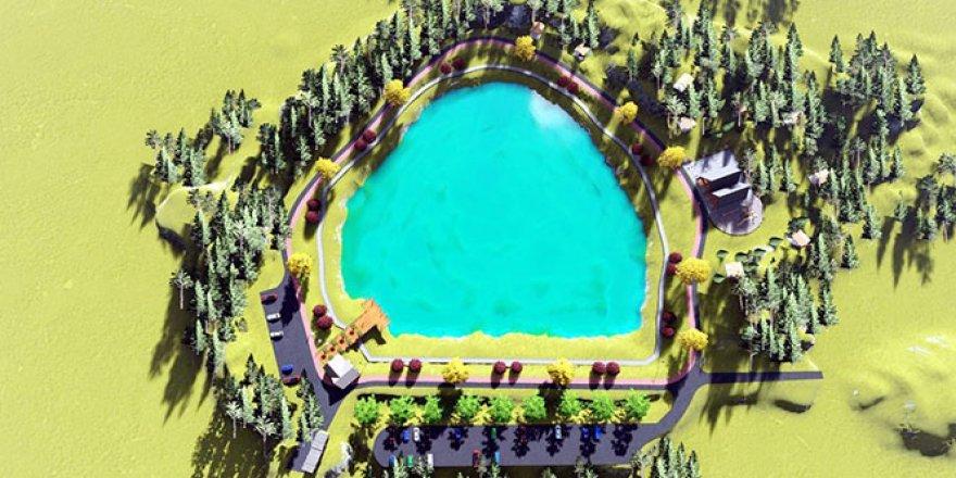 Yeşil gölün turizme kazandırılması çalışmalar başlıyor