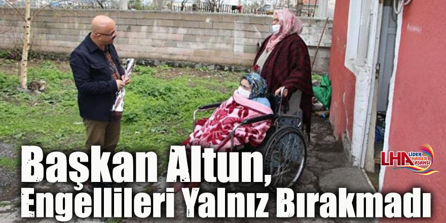 Başkan Altun, Engellileri Yalnız Bırakmadı