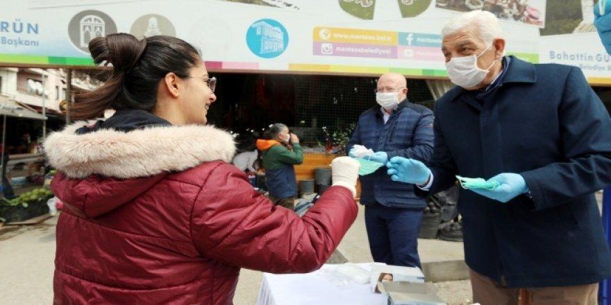 500 bin ücretsiz maske dağıtıldı