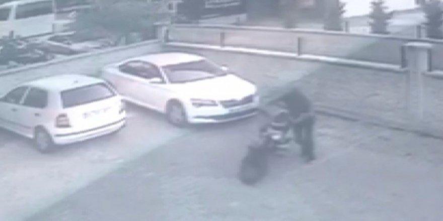 Çaldığı motosikleti çalıştıramayınca geri getirip yerine bıraktı