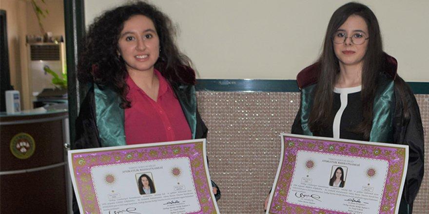 Avukat kız kardeşlerin 'ruhsat' sevinci